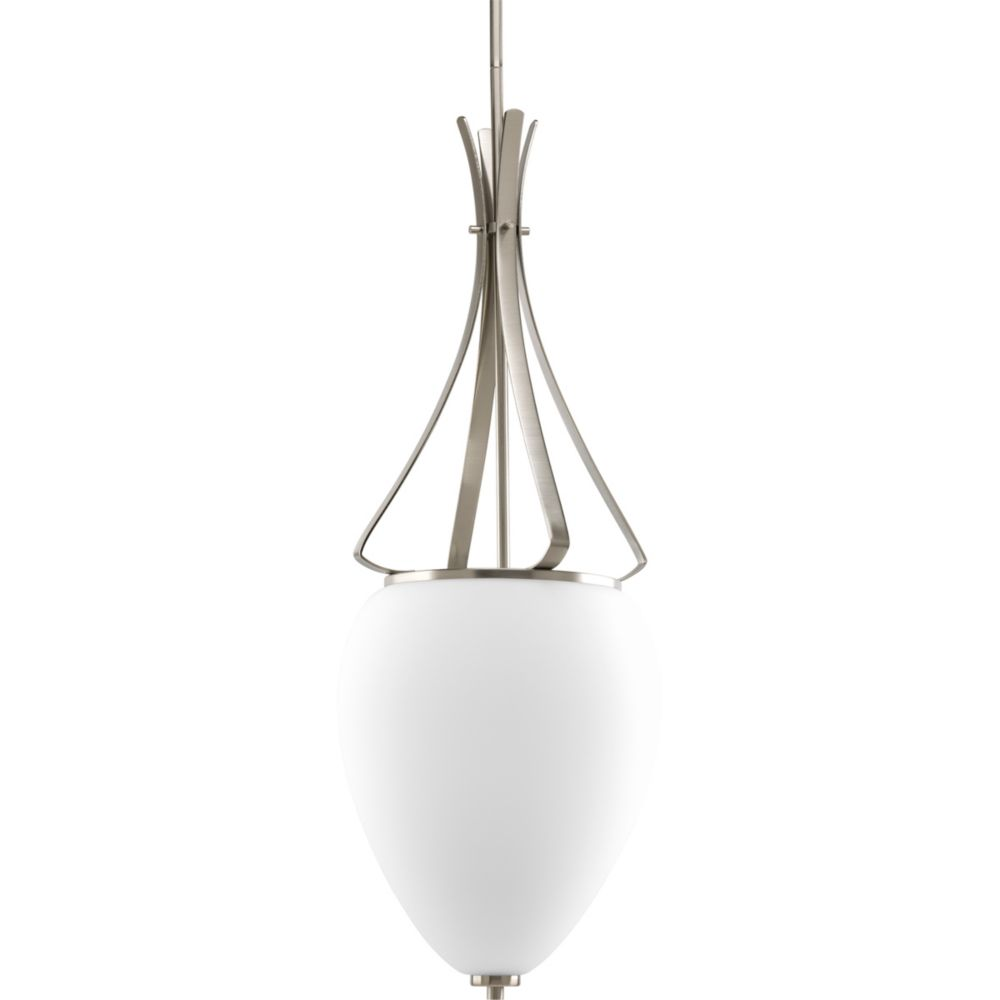 Rave Collection Brushed Nickel 2-light Foyer Pendant