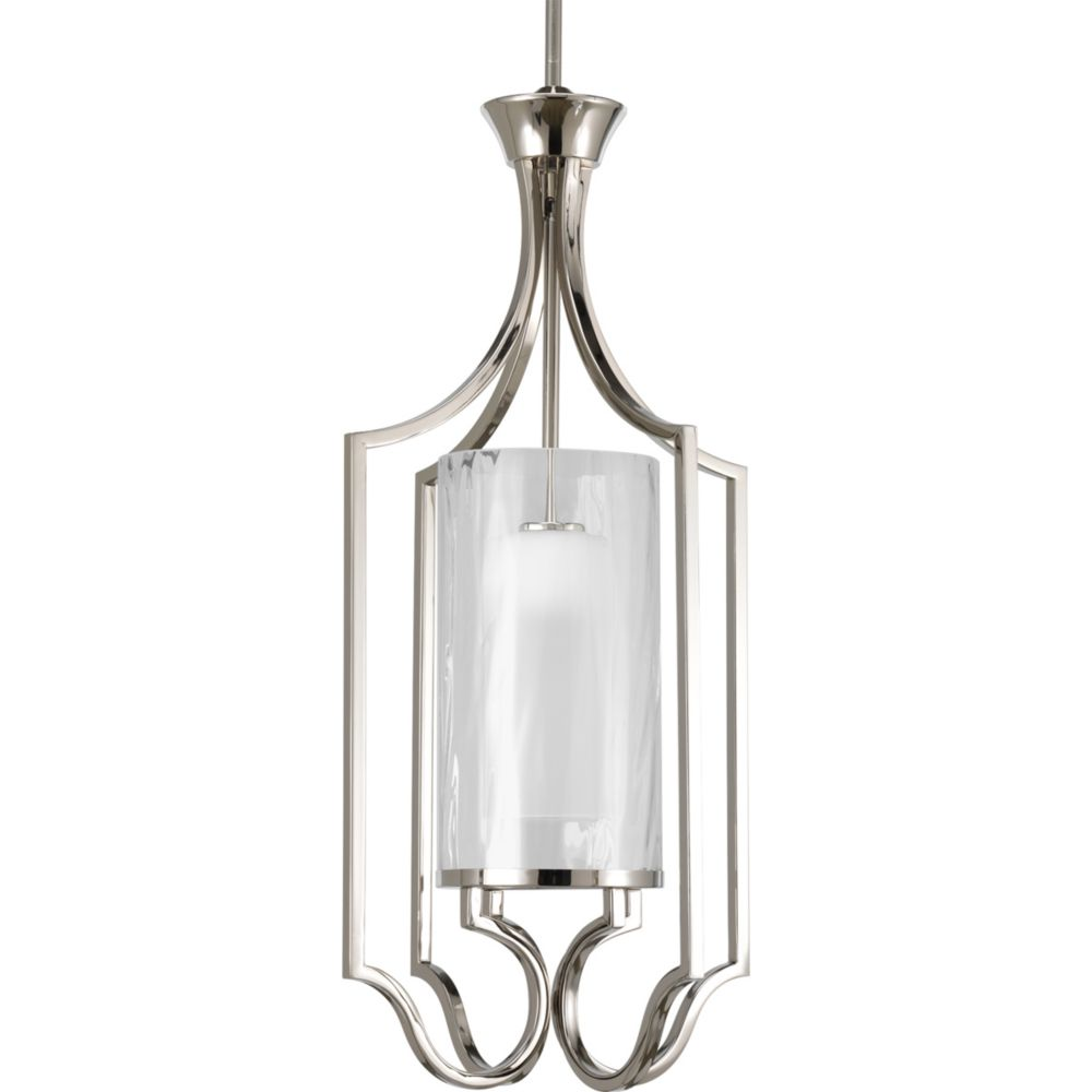 Progress Lighting Caress Collection Polished Nickel 1-light Foyer Pendant