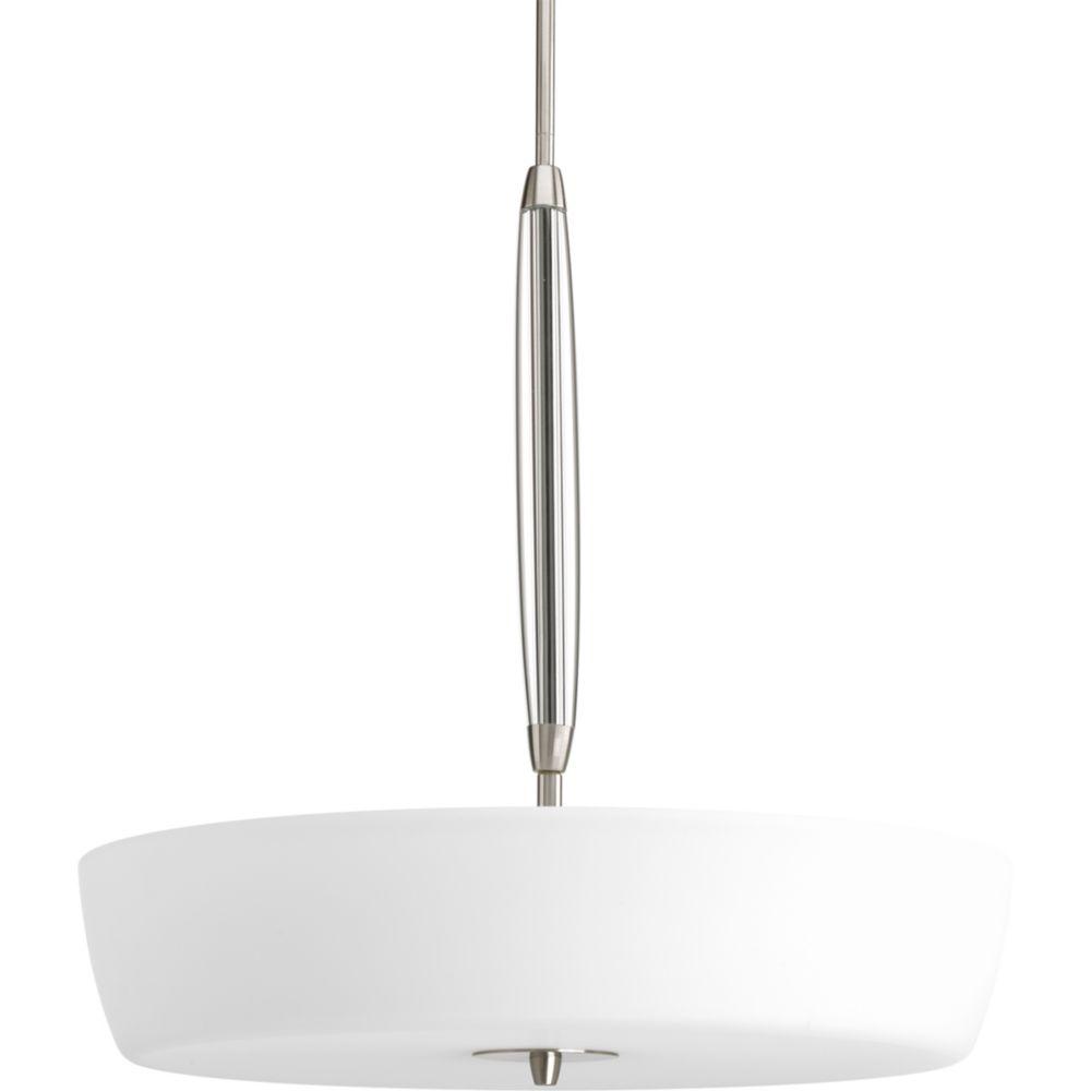 Divot Collection Brushed Nickel 4-light Foyer Pendant