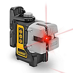 50 ft. & 165 ft. Red Self-Leveling 3-Beam Cross Line Laser Level with (4) AA Bateries & Case