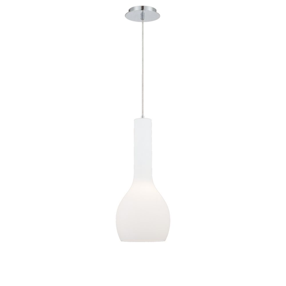 Sirro Collection 1 Light Large Chrome Pendant