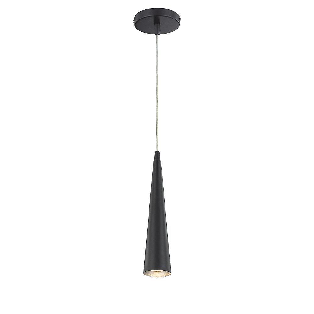 Sliver Collection 1 Light Black Pendant