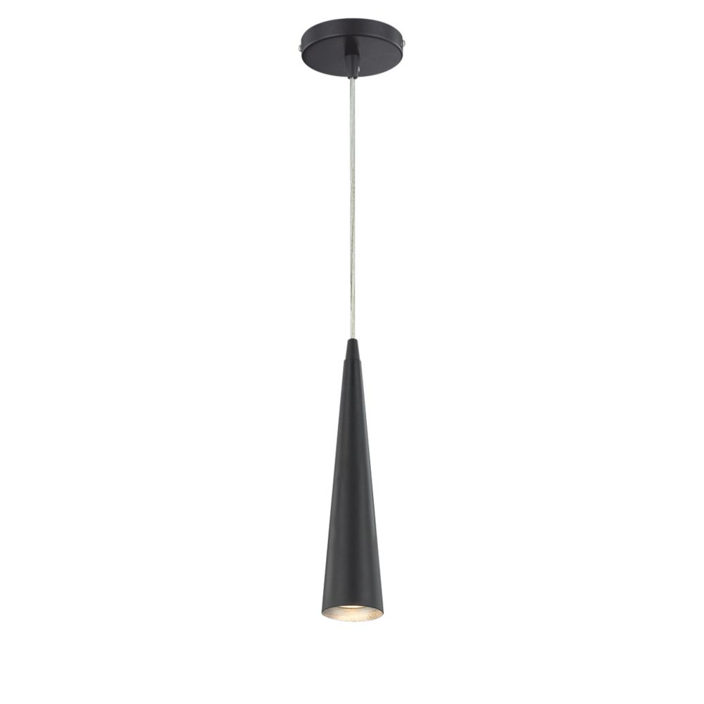 Eurofase Sliver Collection 1 Light Black Pendant