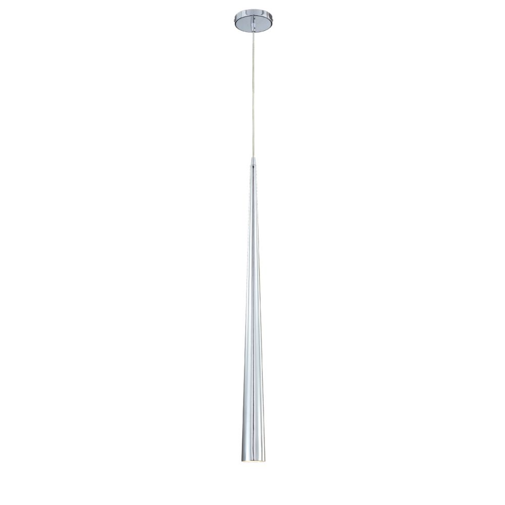 Sliver Collection 1 Light Large Chrome Pendant