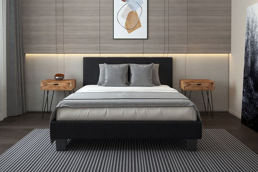 Volt Double Platform Bed - Brown