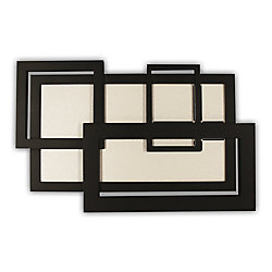 Heath Zenith Wireless Door Chime Black Collage Frame