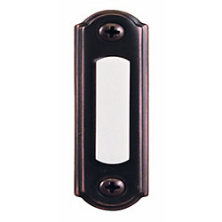 Hampton Bay Wired Lighted Door Bell Push Button, Mediterranean Bronze