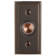 Wired Halo-Lighted Antique Copper Finish Push Button