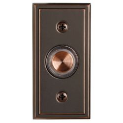 Hampton Bay Wired Halo-Lighted Antique Copper Finish Push Button