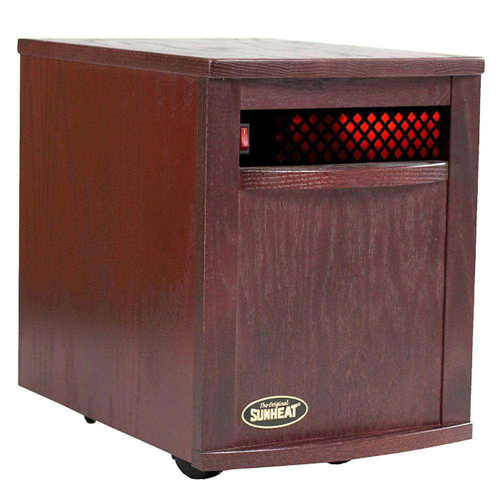 Electronic Infrared Zone Heater, Black Cherry