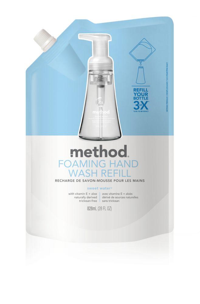 Method recharge de savon mousse, l'eau douce 828mL