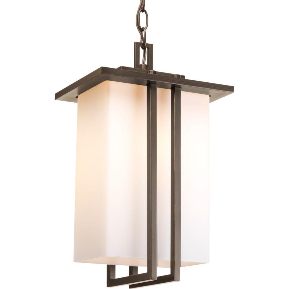 Lanterne suspendue à 1 Lumière, Collection Dibs - fini Bronze à l'Ancienne