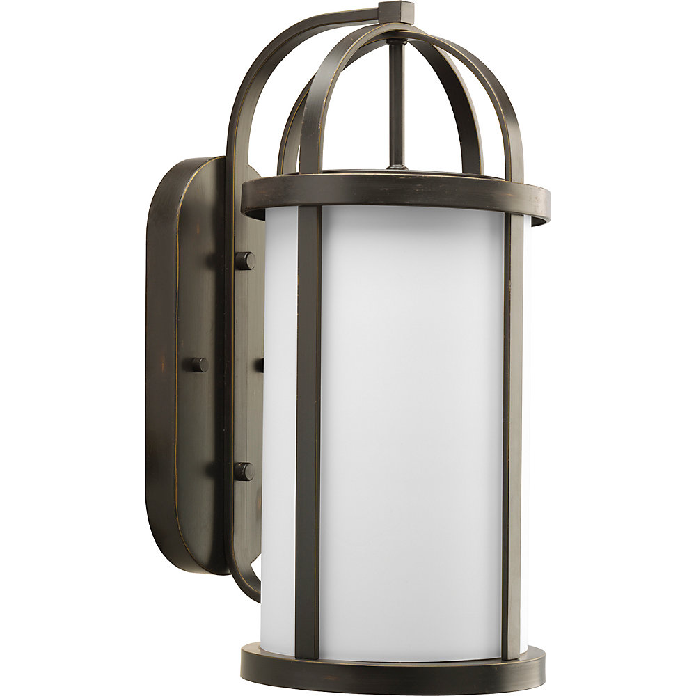 Greetings Collection Antique Bronze 1-light Wall Lantern