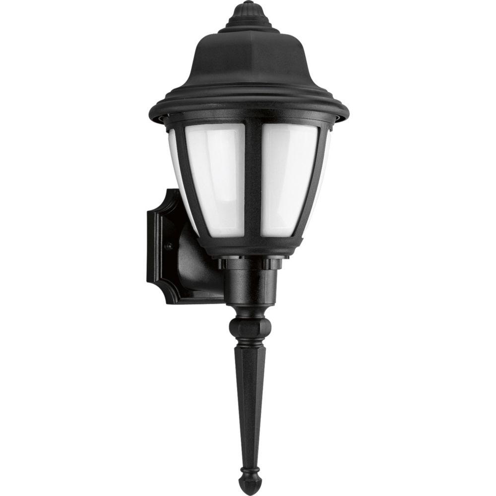 1-light Black Wall Lantern
