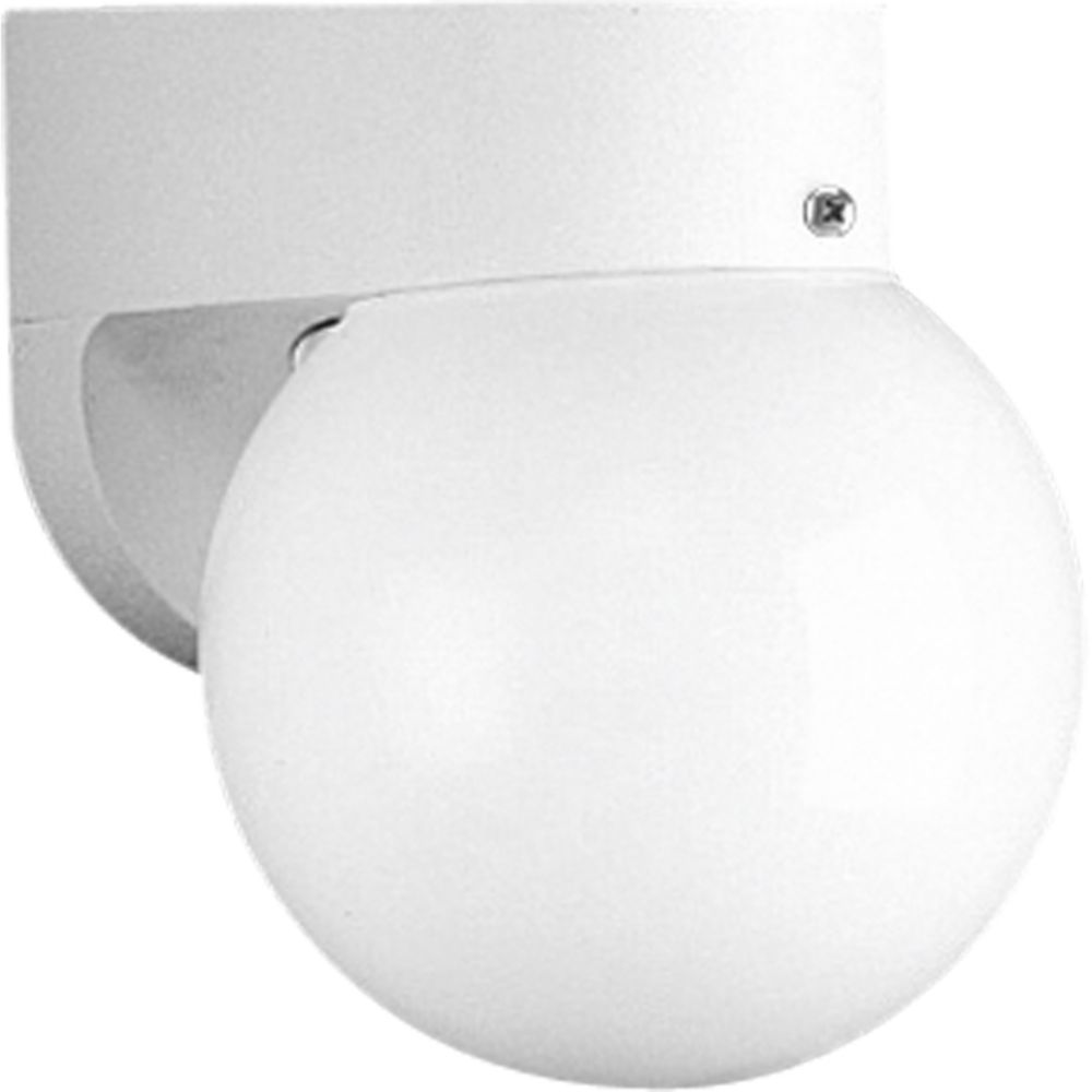 1-light White Wall Lantern