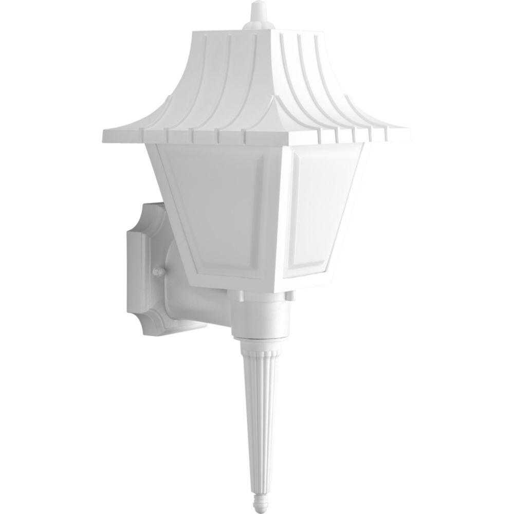 Mansard Collection 1-light White Wall Lantern