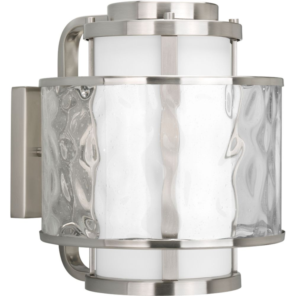 Bay Court Collection Brushed Nickel 1-light Wall Lantern