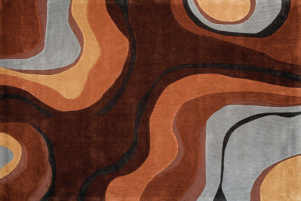 Festival Brown 5 ft. x 7 ft. Rectangular Area Rug
