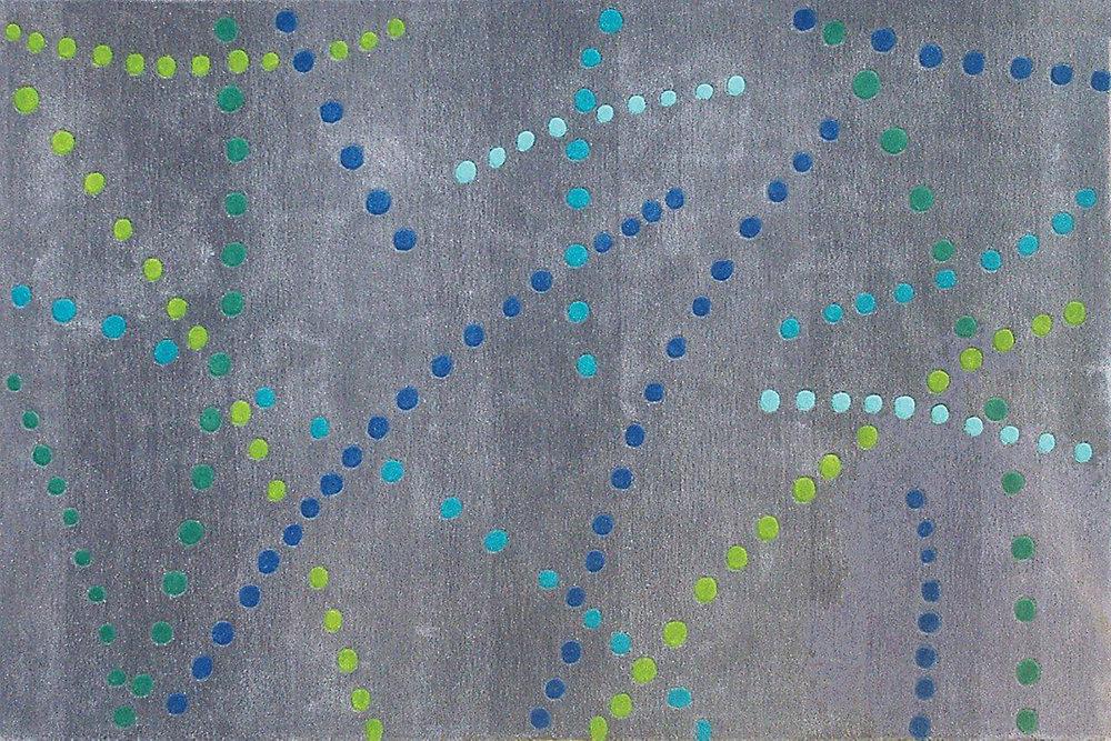 Festival Blue 5 ft. x 7 ft. Rectangular Area Rug