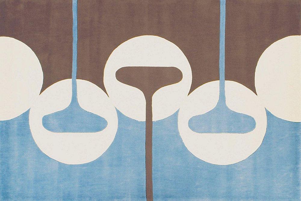 Festival Blue 8 ft. x 10 ft. Rectangular Area Rug