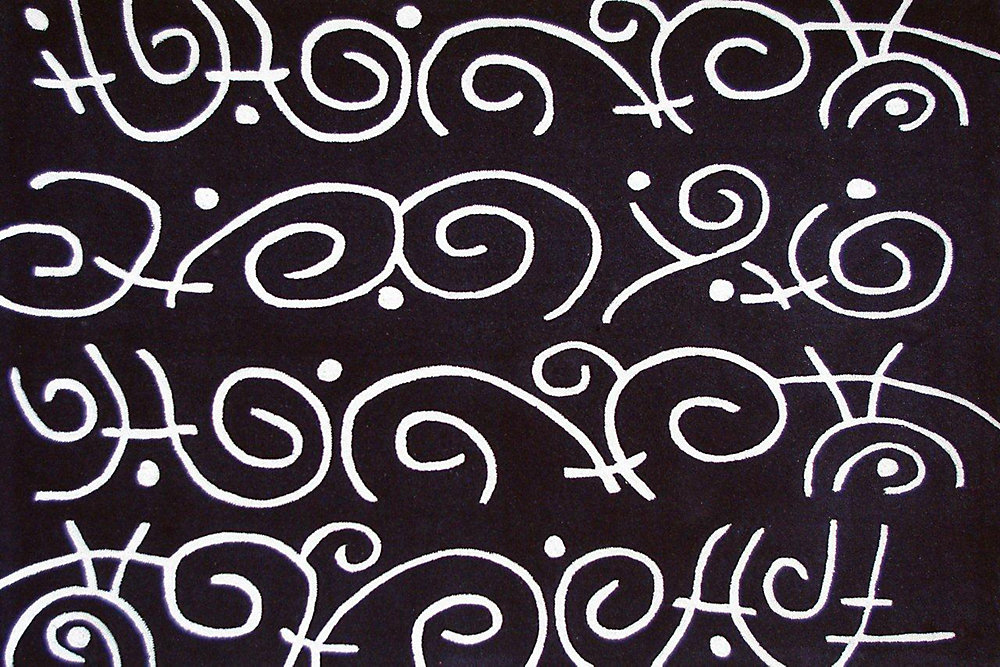 Festival Black 5 ft. x 7 ft. Rectangular Area Rug