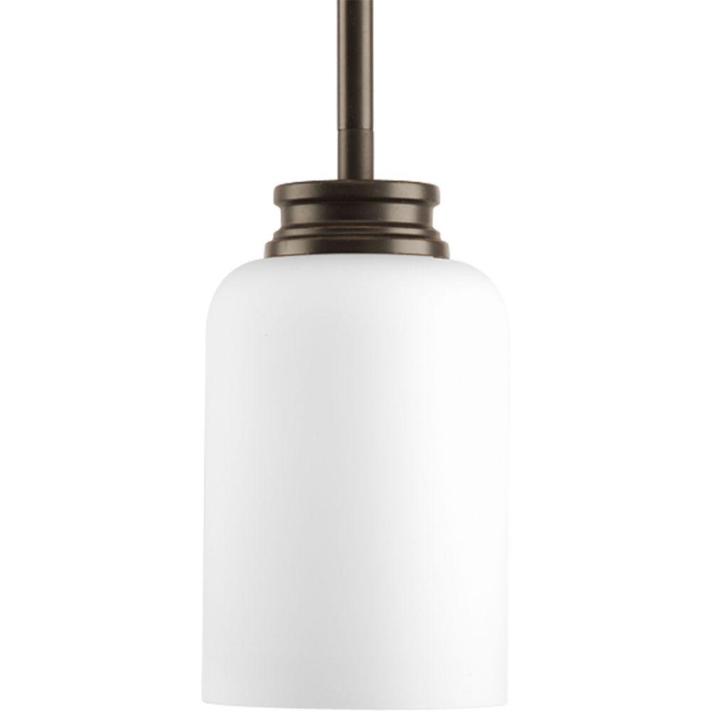 Mini suspension à 1 Lumière, Collection Orbit - fini Bronze à l'Ancienne