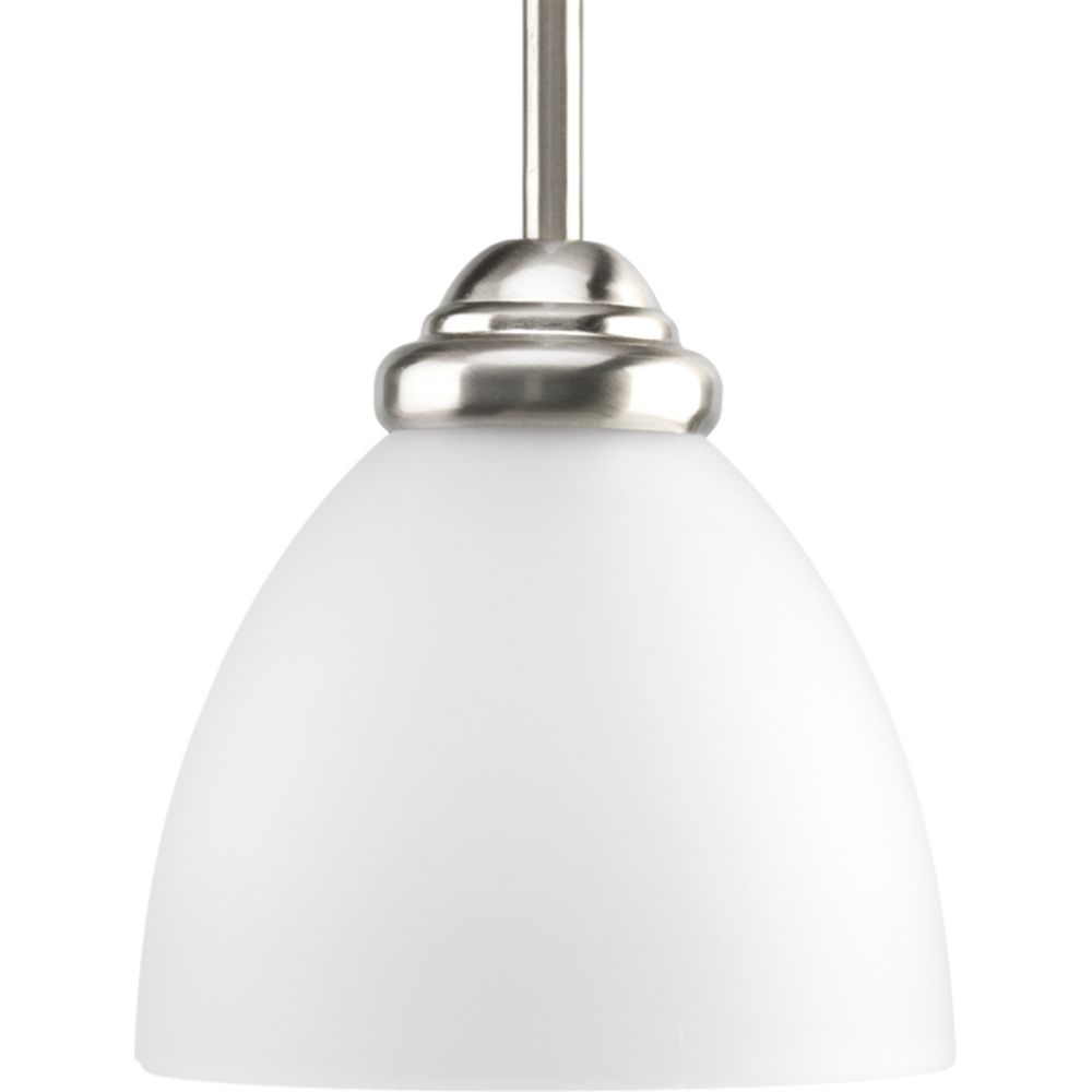 Heart Collection Brushed Nickel 1-light Mini-Pendant