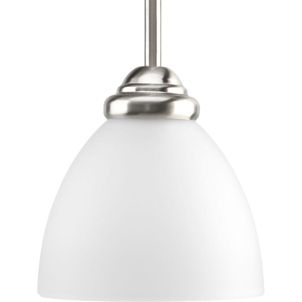 Mini suspension à 1 Lumière, Collection Heart - fini Nickel Brossé