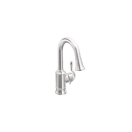 Woodmere Single Handle Pulldown Bar Faucet Featuring Reflex in Chrome