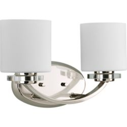 Progress Lighting Nisse Collection Polished Nickel 2-light Bath Light
