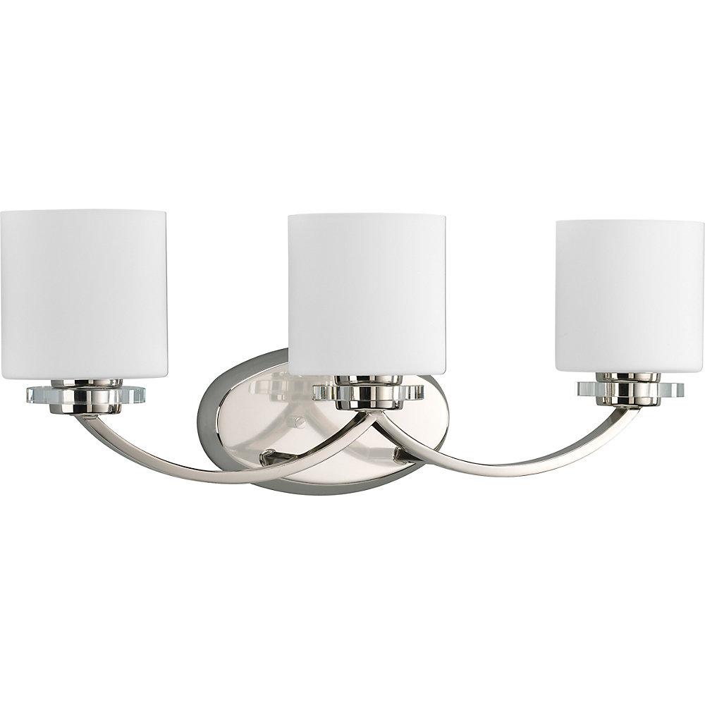 Nisse Collection Polished Nickel 3-light Bath Light