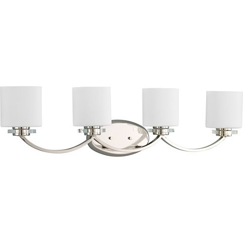 Progress Lighting Nisse Collection Polished Nickel 4-light Bath Light