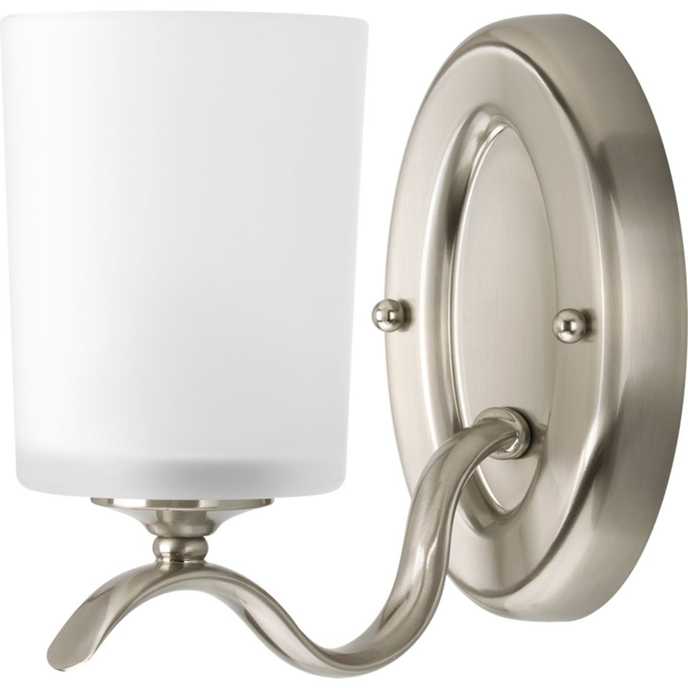 Inspire Collection Brushed Nickel 1-light Bath Light