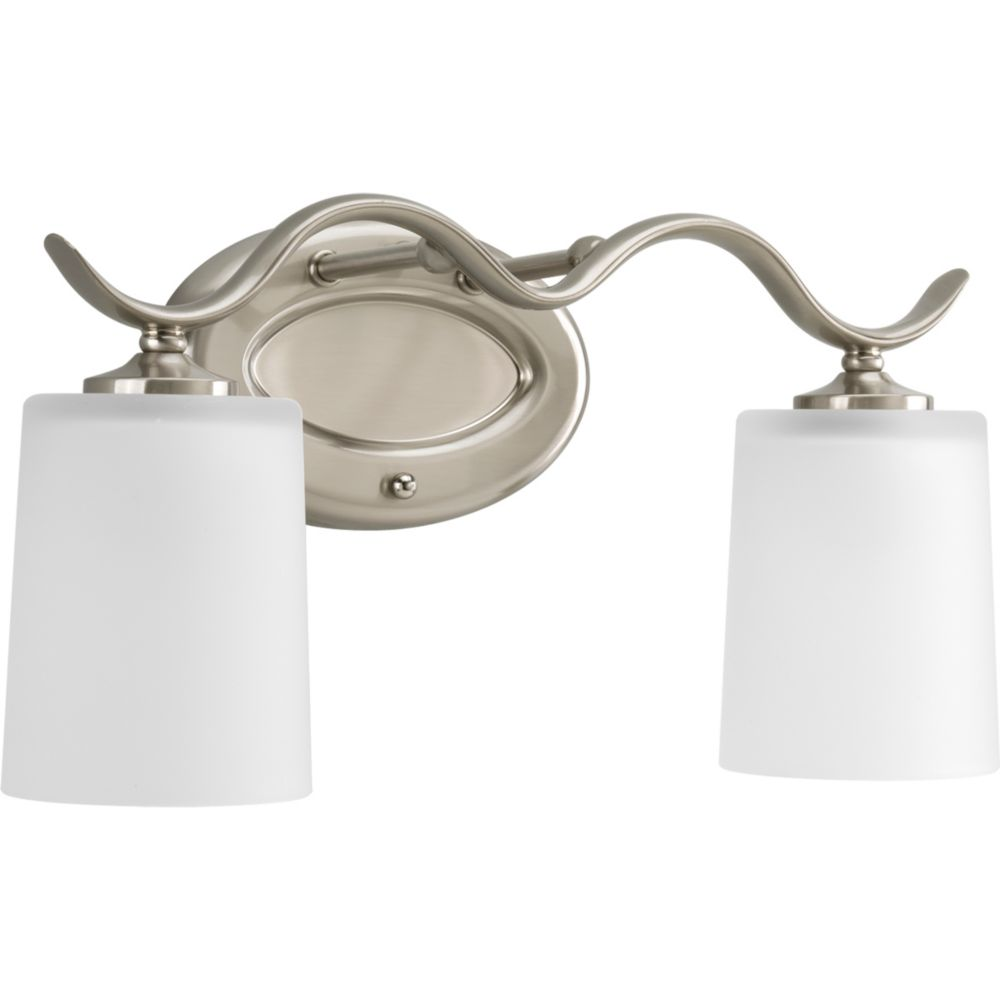 Inspire Collection Brushed Nickel 2-light Bath Light
