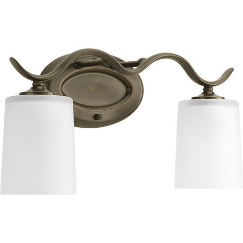 Progress Lighting Inspire Collection Antique Bronze 2-light Bath Light