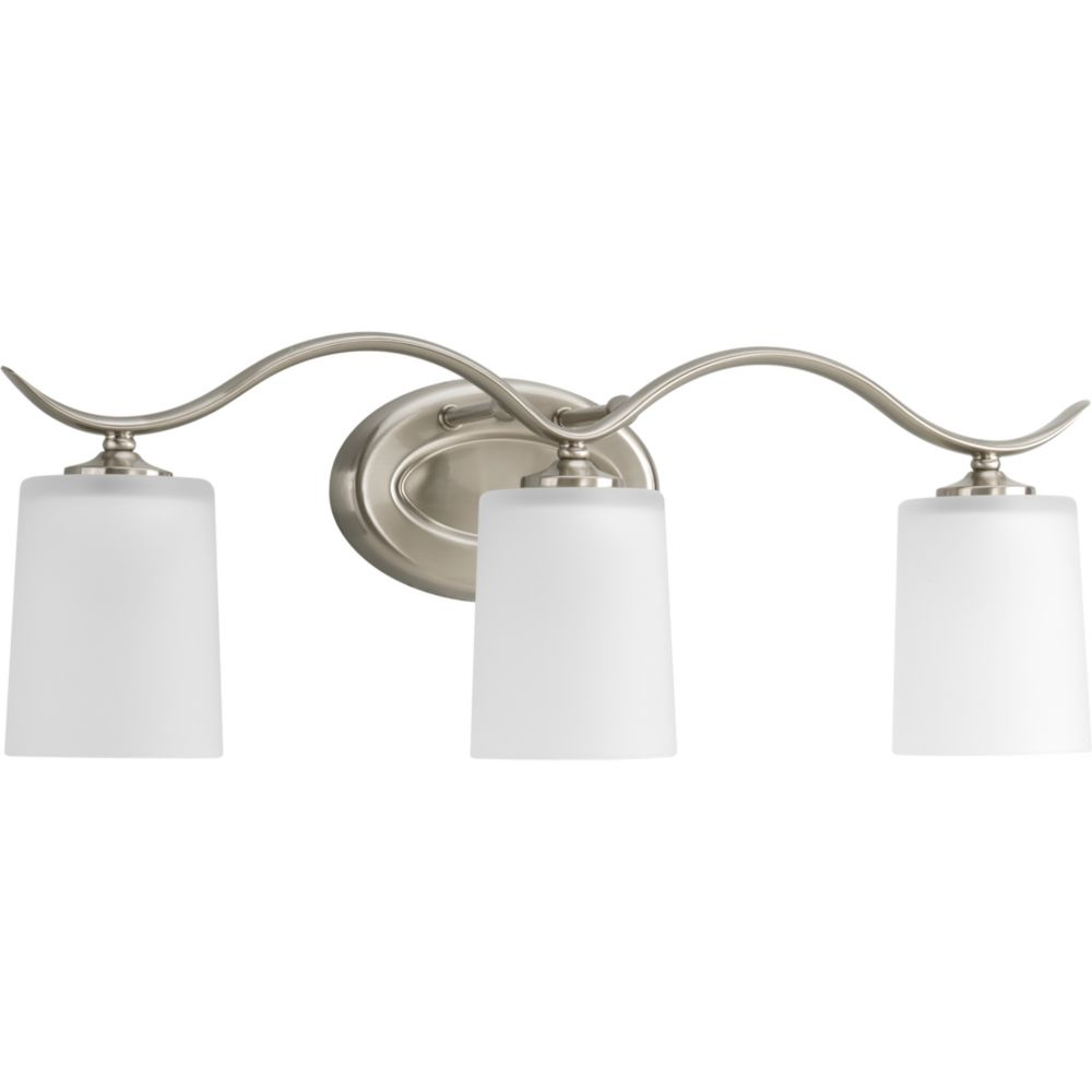 Progress Lighting Inspire Collection Brushed Nickel 3-light Bath Light The Home Depot Canada