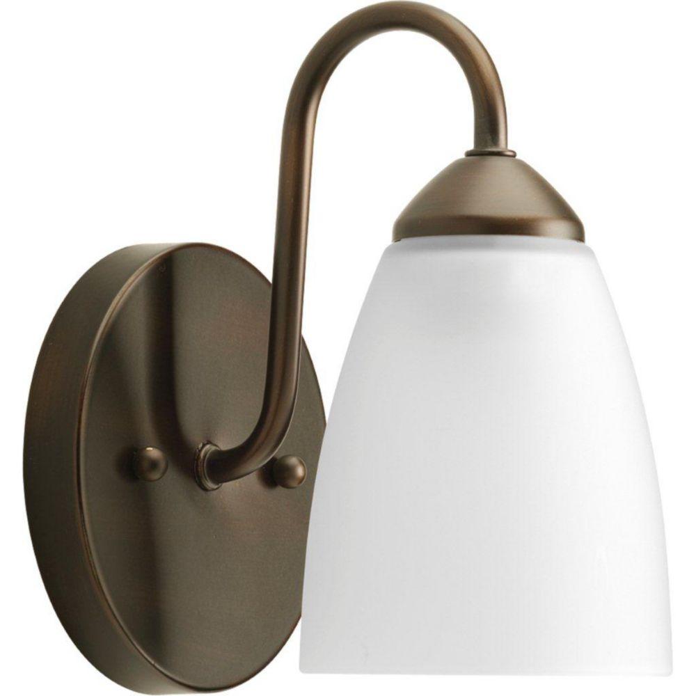 Gather Collection Antique Bronze 1-light Bath Light
