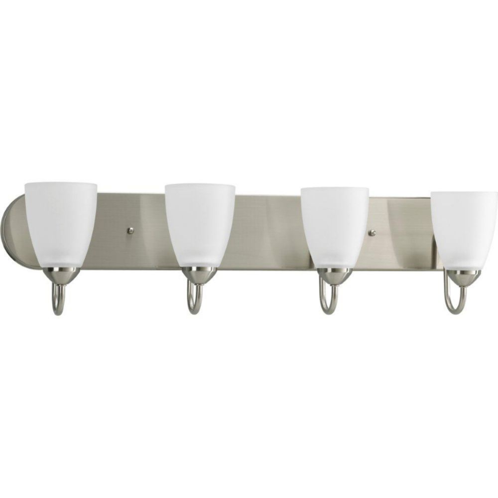 Gather Collection Brushed Nickel 4-light Bath Light