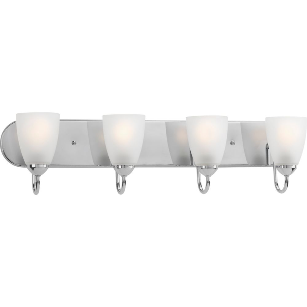 Progress Lighting Gather Collection 4-light Polished Chrome Bath Light