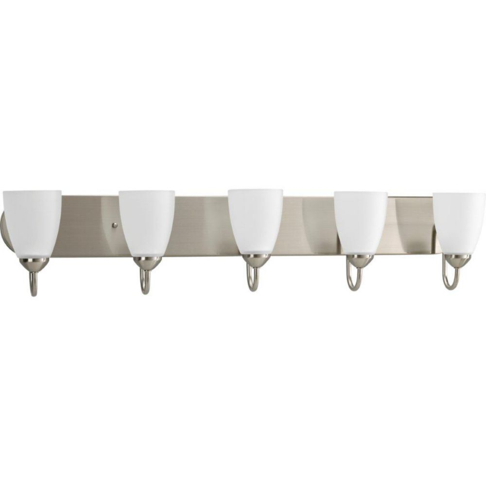 Gather Collection Brushed Nickel 5-light Bath Light