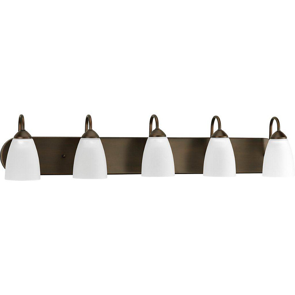 Gather Collection Antique Bronze 5-light Bath Light