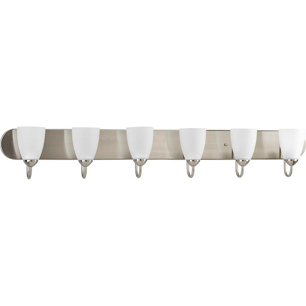 Gather Collection 6-light Bath Fixture in Brushed Nickel
