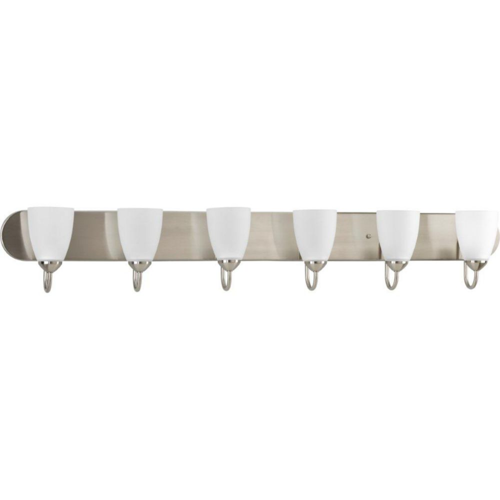 Gather Collection Brushed Nickel 6-light Bath Light