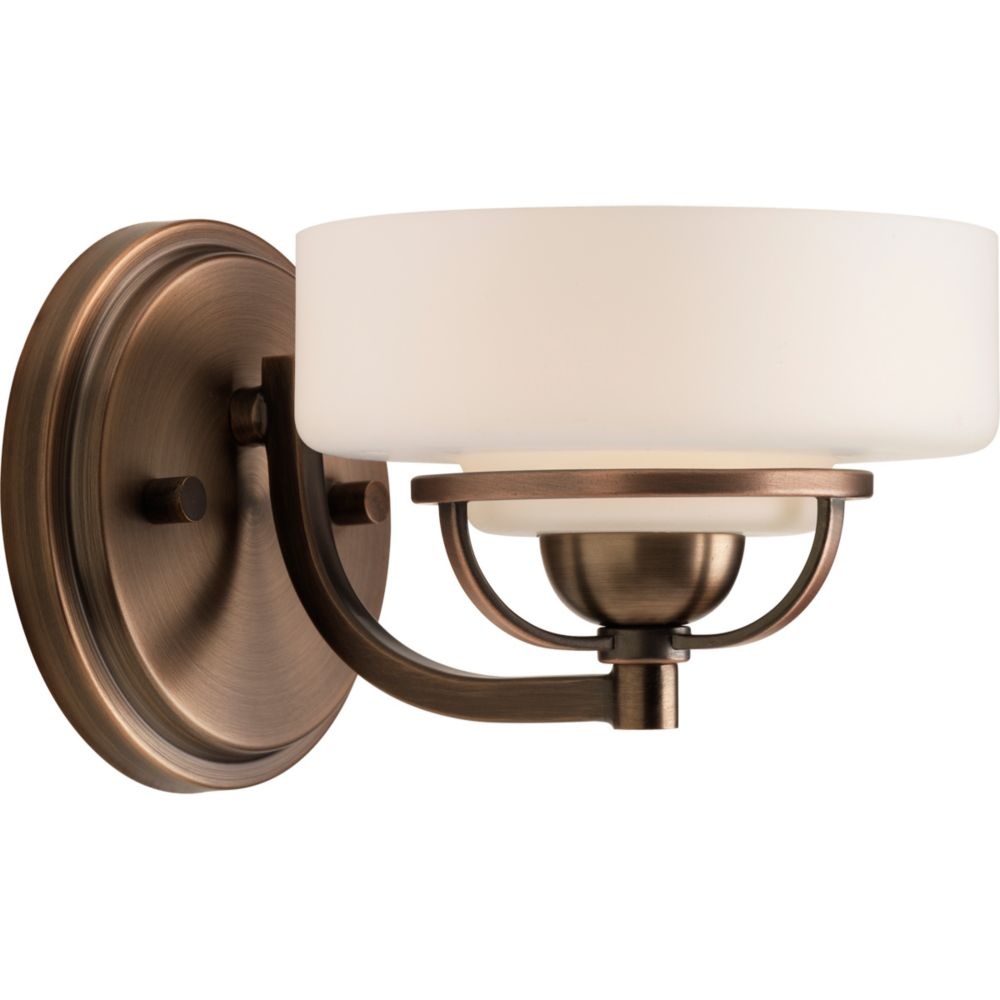 Torque Collection 1-light Copper Bronze Bath Light