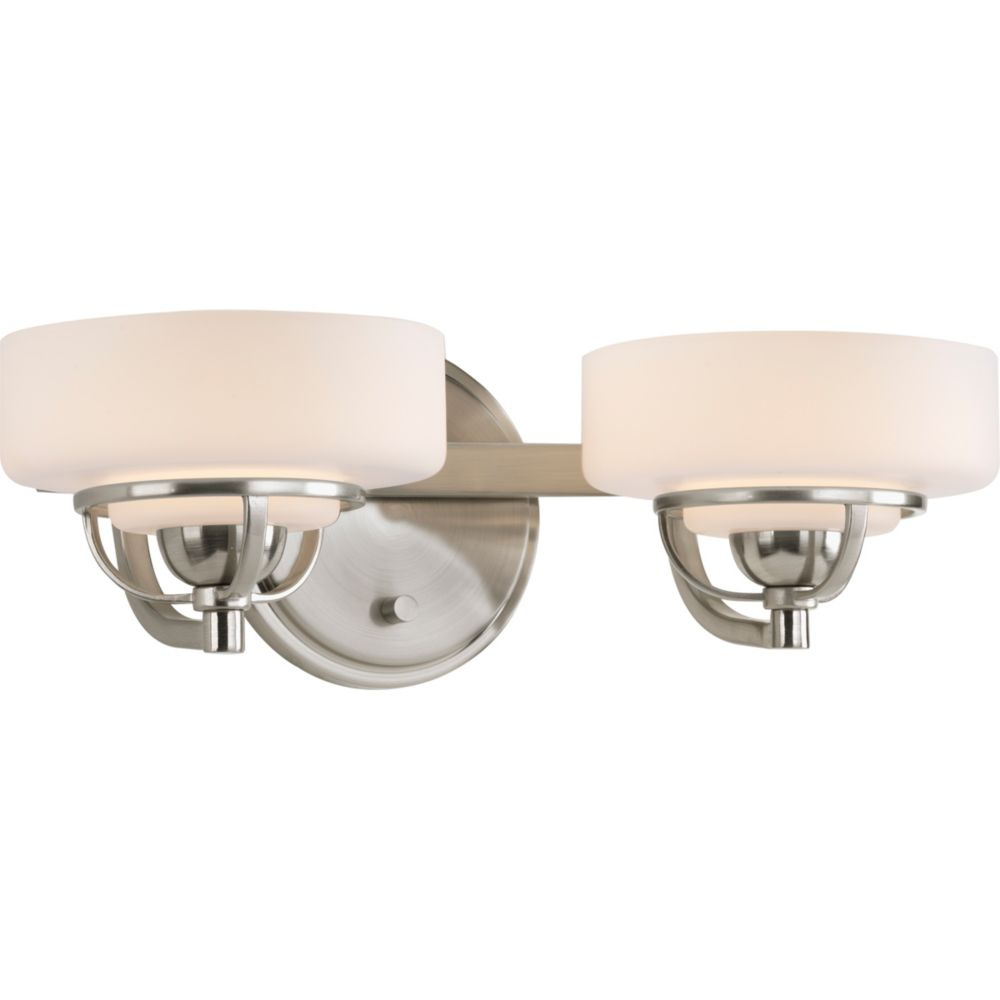 Torque Collection 2-light Brushed Nickel Bath Light