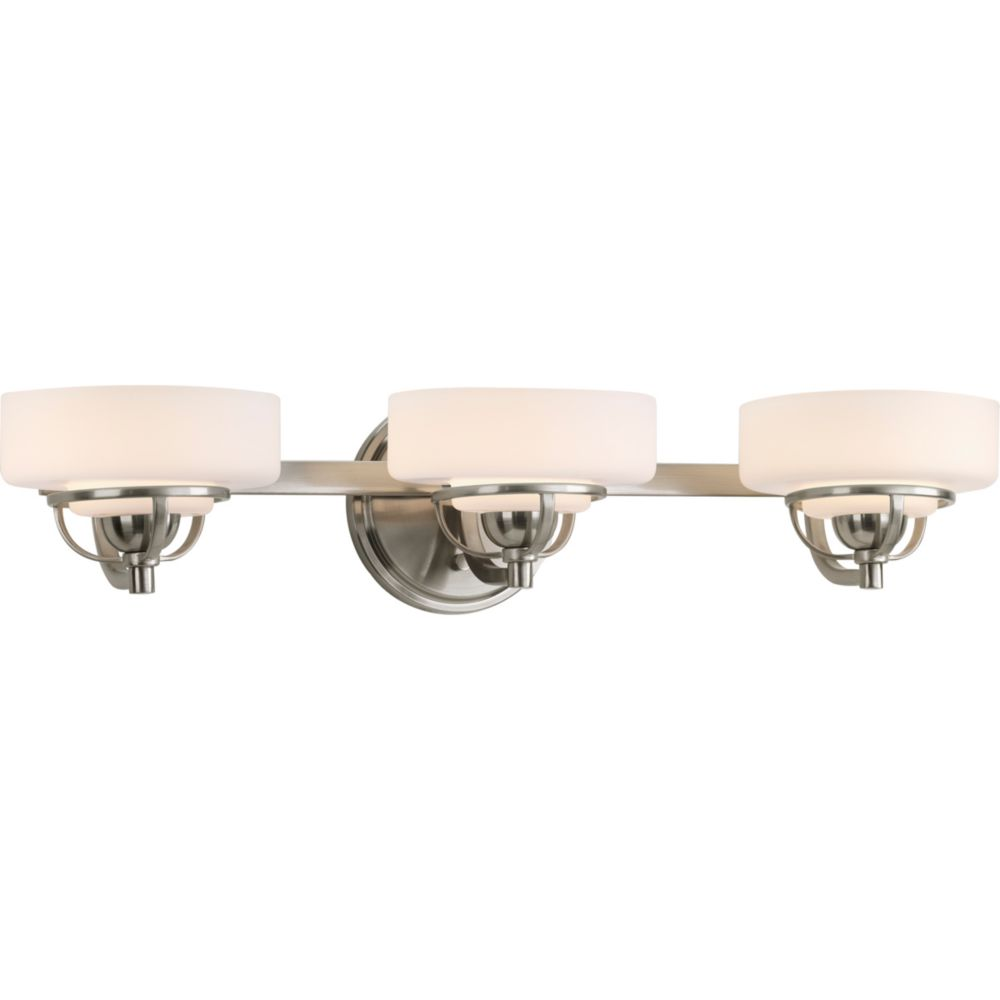 Torque Collection 3-light Brushed Nickel Bath Light