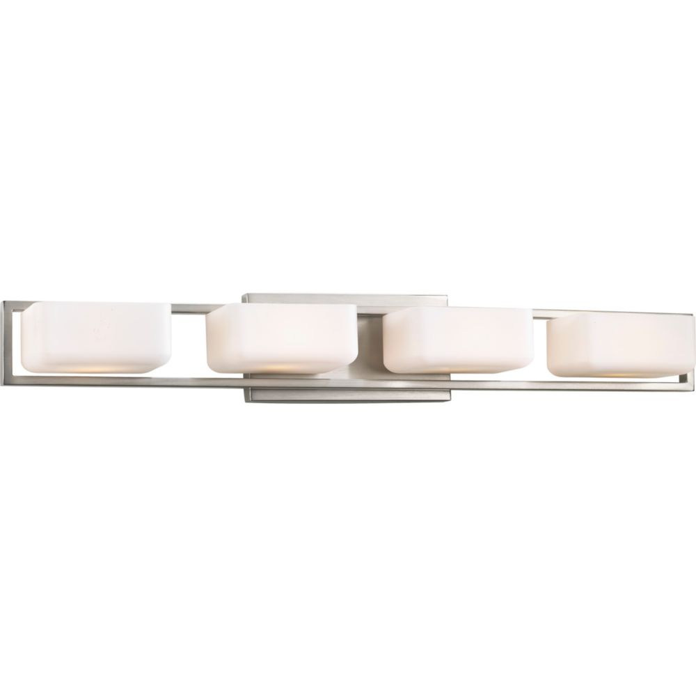 Dibs Collection 4-light Brushed Nickel Bath Light