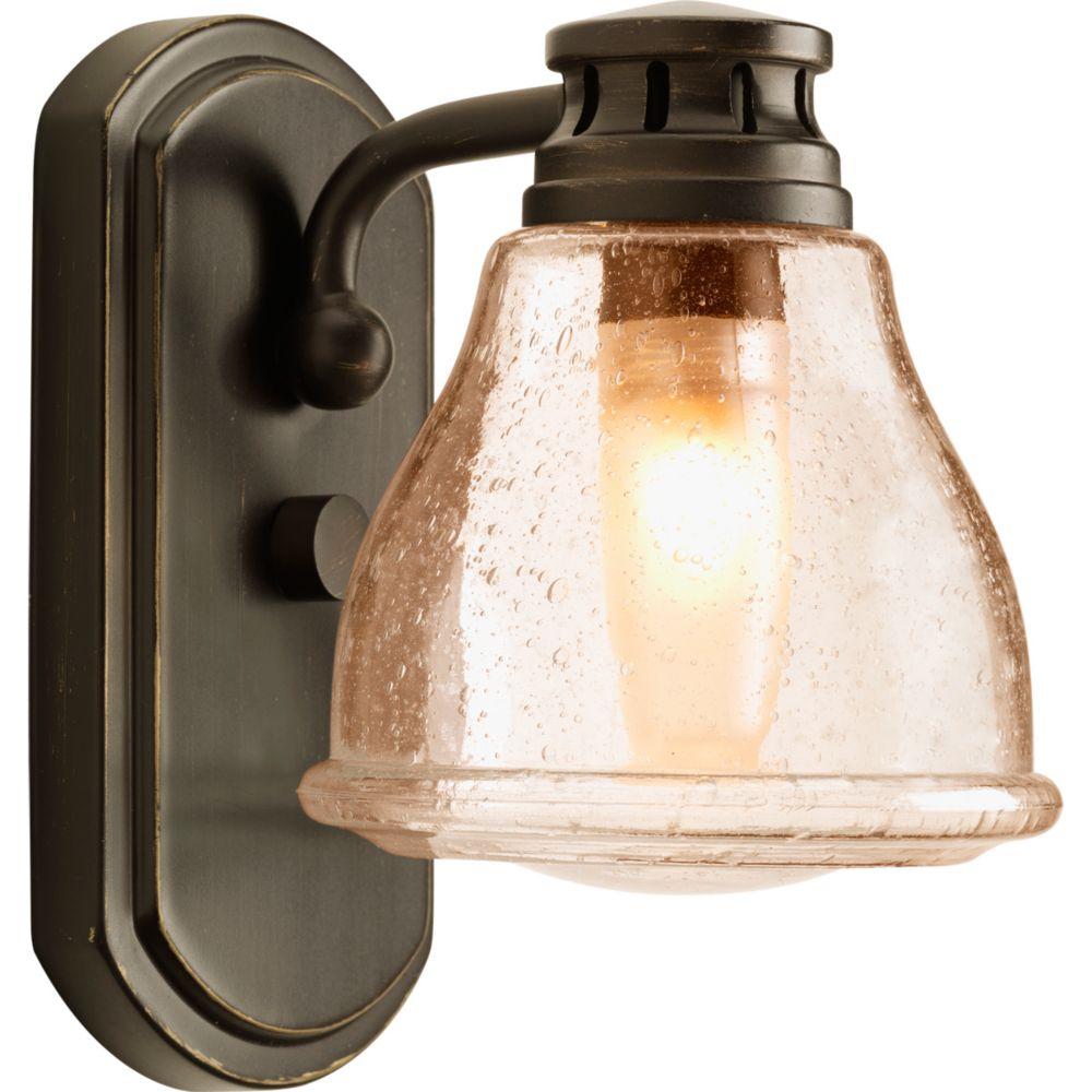 Progress Lighting Academy Collection 1-light Antique Bronze Bath Light