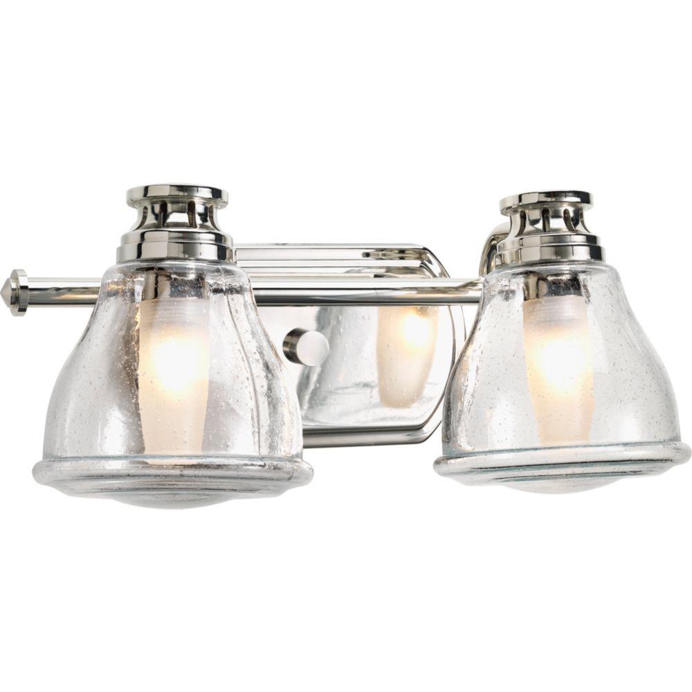 Academy Collection 2-light Polished Chrome Bath Light