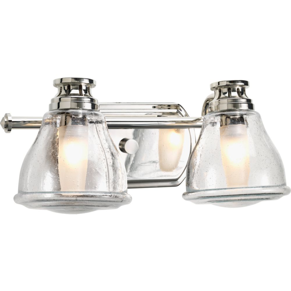 Progress Lighting Academy Collection 2-light Polished Chrome Bath Light